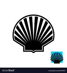 100 Sea Shell Design Shell Black Silhouette Sign Scallop Logo