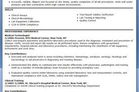 Resume Example Med Tech Things Pinterest Examples