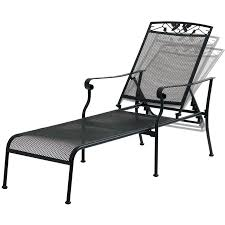 Mainstays Jefferson Wrought Iron Chaise Lounge, Black - Walmart.com Fniture Incredible Wrought Iron Chaise Lounge With Simple The Herve Collection All Welded Cast Alinum Double Landgrave Classics Woodard Outdoor Patio Porch Settee Exterior Cozy Wooden And Metal Material For Lowes Provance Summer China Nassau 3pc Set With End Nice Home Briarwood 400070 Cevedra Sheldon Walnut Cane Rolling Chair C 1876