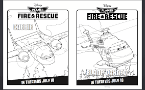 Free Disney Planes Coloring Pages Fire Rescue Samoloty 2 Plakat
