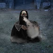 Outdoor Halloween Decorations Walmart by Fogging Reaper Halloween Decoration Walmart Com