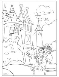 Fairy Tale Coloring Page Printable Activity For Kids