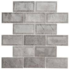 Home Depot Marble Tile Sealer by Jeffrey Court Tundra Grey 2 X 4 Beveled 12 In X 12 In X 10 Mm