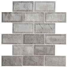 jeffrey court tundra grey 2 x 4 beveled 12 in x 12 in x 10 mm