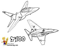 T100 Trainer Military Aiplane Coloring Page At YesColoring