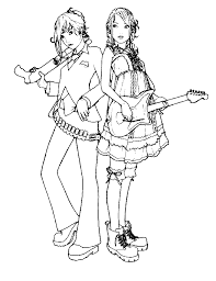 Music Coloring Pages Girl Rock Star