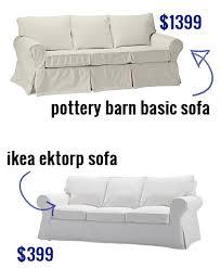 Pottery Barn Turner Sofa Look Alike by Ikea Ektorp Sofa Versus Pottery Barn Basic Sofa For The Home