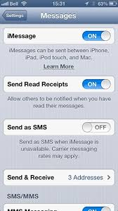 iMessages being sent as Text Messages