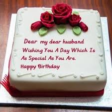 Birthday Cake Wishes To Husband