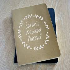 Guest Personalized Wedding Planner Book Horizontal Landscape Sign In Custom Planning Guide