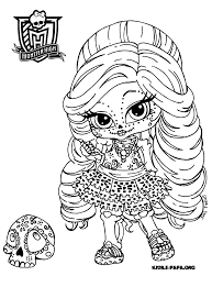 OddParents Coloring Pages On Fairly Holiday Cupid Skelita Calaveras Mu00e5larbilder Monster High