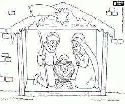Nativity Scene With Human Statues