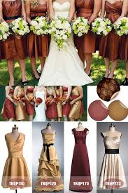 Brown Carafe Yellow Satin Bridesmaid Dresses For Fall Wedding 2013