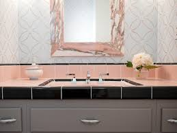 Reasons To Love Retro Pink-Tiled Bathrooms | HGTV's Decorating ... How To Turn A Cabinet Into Bathroom Vanity Hgtv Tallebudgera Reno The Reveal Cedar Suede 5 1 Room Tour Diys Closetofficevanitycraftstudio Neutrals Pop Of Pink Win In This Blogger Home Master 10 Design Ideas Vanity Designs White Best 25 Girls Table Ideas On Pinterest Makeup This Game Stunning House Greatindex 21 Fisemco 5058 In Double Sink Vanities Bath Depot I Love The Mix Modern And Rustic Bathroom Design Pick Bedroom Makeup What Is Contemporary Amazing