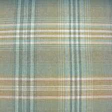 Wide Plaid Wool Upholstery Fabric