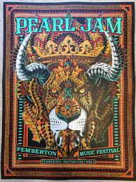 Pearl Jam BioWorkz Pemberton Music Festival Poster 2016