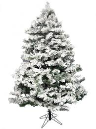 Pre Lit Flocked Christmas Tree by Christmas Flocked Christmas Tree Sterling Ft Pre Lit Natural Cut