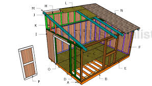 12x16 Slant Roof Shed Plans by Building A 12x16 Lean To Shed Outdoor Shed Plans Free