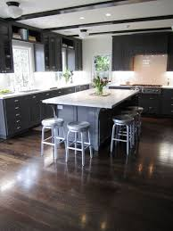 Dark Wood Floors Kitchen