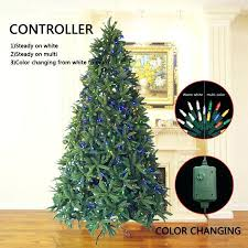 4 Foot Christmas Tree Decorated Trees Fir With Led Lights Easy Assembly Warm
