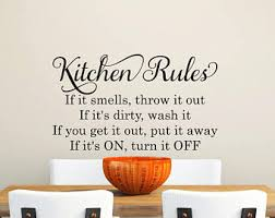 Kitchen Wall Decal Rules Quotes Removable Decals Apartment