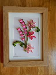 Picture Frames Paper Quilling Flower Artpink Wall Decor
