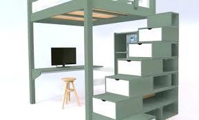 lit mezzanine noir avec bureau lit mezzanine bureau blanc lit mezzanine hauteur reglable dijon