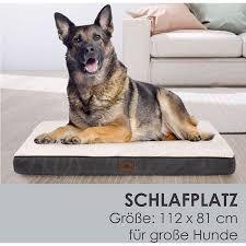 hundebett milow orthopädisch 112x81x8 cm bezug abnehmbar waschbar große hunde juskys
