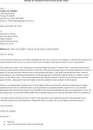 Licensed Practical Nurse Resume Sample Examples Cover Letter Nursing Samples