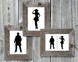 Printable Handicap Bathroom Signs by Instant Download 5x7 Printable Bathroom Door Signs Cowboy