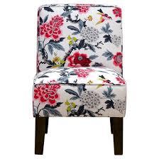 burke accent print slipper chair candid moment black skyline