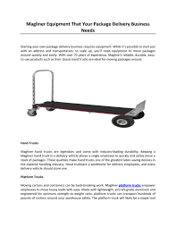 100 Magliner Hand Trucks Equipment That Your Package Delivery Business Needs