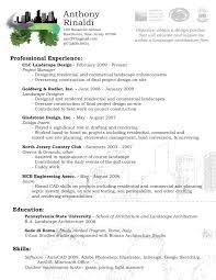 Sample Resume Landscaping Position
