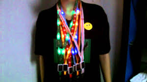 Flashing Christmas Tree Lights Necklace by Led Lighting Lanyard Led Flashing Necklace For Fifa 2014 Football