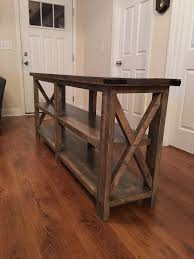 Rustic Style Sofa Entry Way Table By LaceysWoodWorking On Etsy