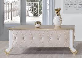 casa padrino barock couchtisch beige weiß gold 100 x 64 x h 43 cm edler barockstil wohnzimmertisch mit glitzersteinen barock möbel