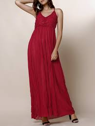 spaghetti strap solid color backless maxi dress for women in