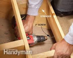 This Old House Squeaky Floor Screws by How To Repair Squeaky Stairs Family Handyman