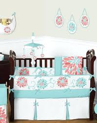 Coral And Navy Baby Bedding by Baby Girls Cribs Wildflower Garden Crib Bedding A Navy And Coral