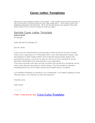 Cover Letter Document