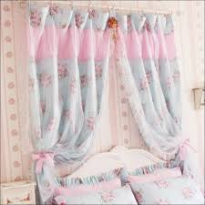 Pink Ruffled Window Curtains by Interiors Marvelous Short Pink Blackout Curtains Priscilla