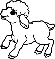 Sheep Coloring Pages For Kids With Color Page Pictures A Baby Is Best Of
