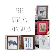 Free Kitchen Printables Farmhouse Decor 12