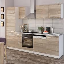 vicco küche 270 cm küchenzeile küchenblock einbauküche komplettküche sonoma