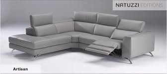 natuzzi editions artisan large reclining chaise corner sofa in