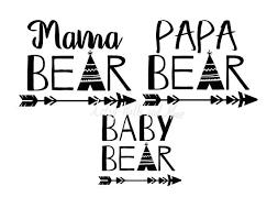 Bear Family Svg Mama Papa Baby Png Jpg