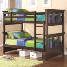 twin bunk bed with spindle headboard and footboard by coaster