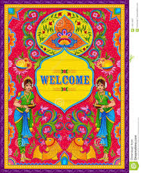 100 Truck Art Colorful Welcome Banner In Kitsch Style Of India Stock
