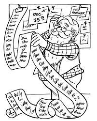 Santa Checking His List Coloring Index