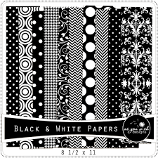 8 1 2 X 11 Black White Paper Pack